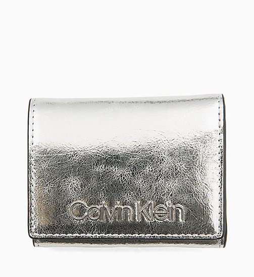 CALVINKLEIN Small Metallic Wallet - SILVER - CALVIN KLEIN WALLETS & SMALL ACCESSORIES - main image
