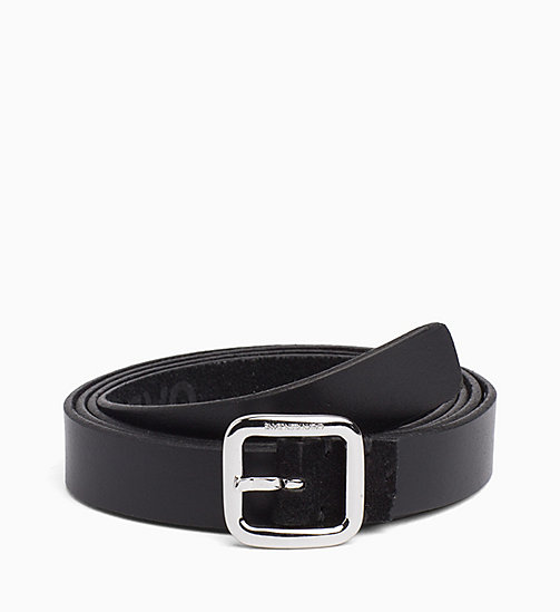 CALVIN KLEIN JEANS Skinny Leather Belt - BLACK - CALVIN KLEIN JEANS NEW IN - main image