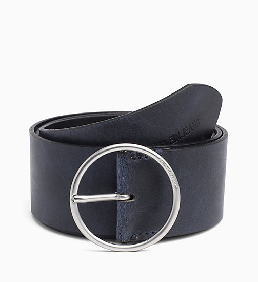 CALVIN KLEIN JEANS Wide Leather Belt - PEACOAT - CALVIN KLEIN JEANS NEW IN - main image