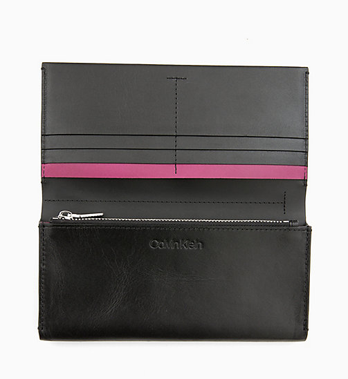 CALVIN KLEIN Leather Wallet - BLACK - CALVIN KLEIN NEW IN - detail image 1