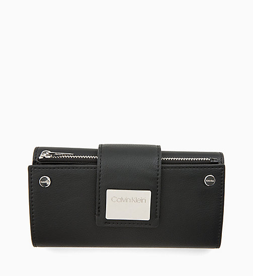 CALVIN KLEIN Large Trifold Wallet - BLACK - CALVIN KLEIN NEW IN - main image