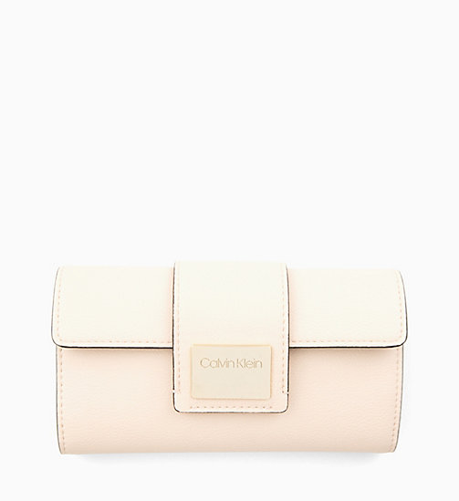 CALVIN KLEIN Large Trifold Wallet - LIGHT SAND - CALVIN KLEIN NEW IN - main image