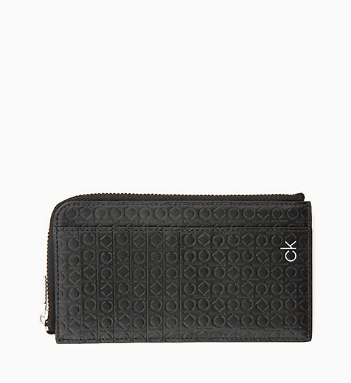 CALVIN KLEIN CK Leather Phone Wallet - BLACK - CALVIN KLEIN NEW IN - main image