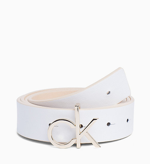 CALVIN KLEIN Reversible Leather Belt Gift Pack - LIGHT SAND & WHITE - CALVIN KLEIN NEW IN - main image