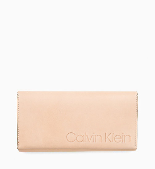 CALVIN KLEIN Leather Wallet - LIGHT SAND - CALVIN KLEIN NEW IN - main image
