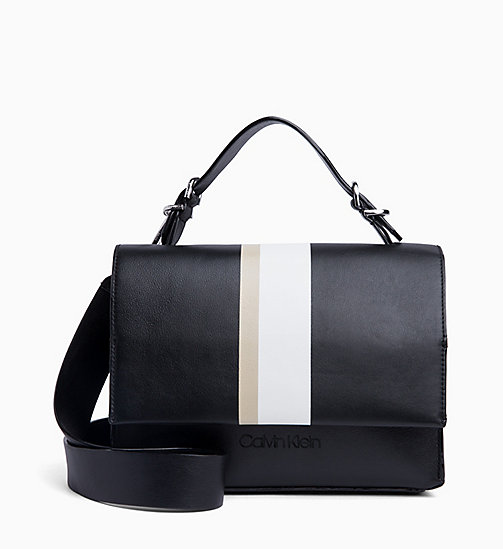 CALVIN KLEIN Small Leather Satchel - BLACK - CALVIN KLEIN NEW IN - main image