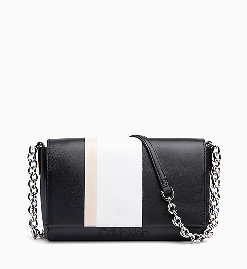 CALVIN KLEIN Leather Cross Body Bag - BLACK - CALVIN KLEIN NEW IN - main image