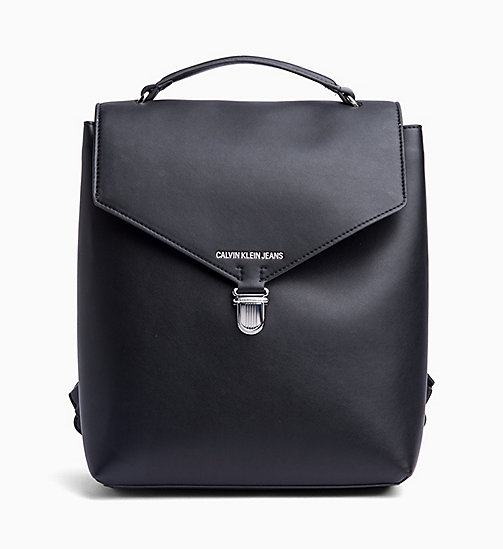 CALVIN KLEIN JEANS Flap Backpack - BLACK - CALVIN KLEIN JEANS NEW IN - main image