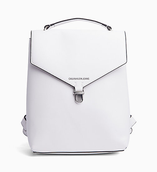 CALVIN KLEIN JEANS Flap Backpack - BRIGHT WHITE - CALVIN KLEIN JEANS NEW IN - main image