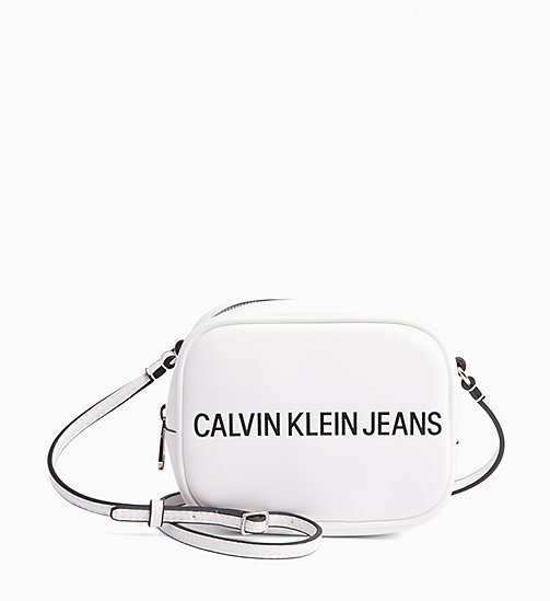 CALVIN KLEIN JEANS Logo Cross Body Bag - BRIGHT WHITE - CALVIN KLEIN JEANS LOGO SHOP - main image