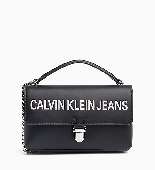CALVIN KLEIN JEANS Logo Flap Cross Body Bag - BLACK - CALVIN KLEIN JEANS LOGO SHOP - main image