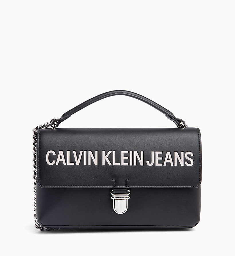 CALVIN KLEIN JEANS Logo Flap Cross Body Bag - BRIGHT WHITE - CALVIN KLEIN JEANS WOMEN - main image