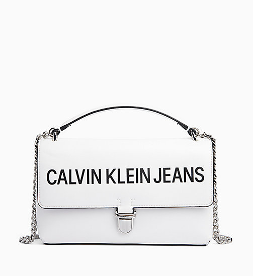CALVIN KLEIN JEANS Logo Flap Cross Body Bag - BRIGHT WHITE - CALVIN KLEIN JEANS LOGO SHOP - main image