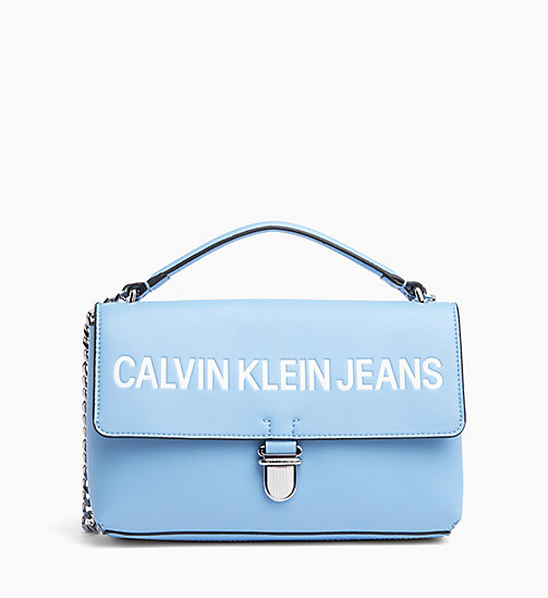 CALVIN KLEIN JEANS Logo Flap Cross Body Bag - ALASKAN BLUE - CALVIN KLEIN JEANS LOGO SHOP - main image