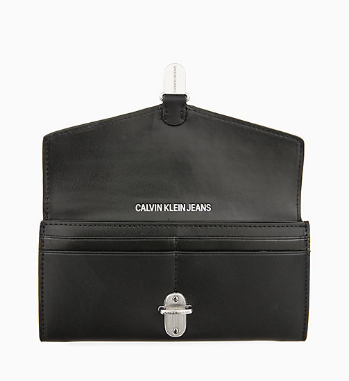 CALVIN KLEIN JEANS Long Envelope Wallet - BLACK - CALVIN KLEIN JEANS NEW IN - detail image 1