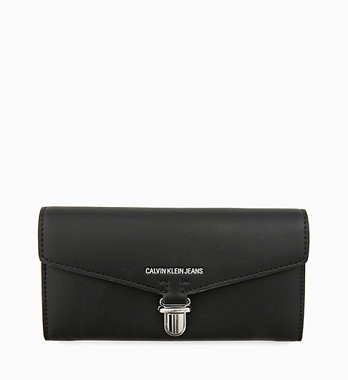 CALVIN KLEIN JEANS Long Envelope Wallet - BLACK - CALVIN KLEIN JEANS NEW IN - main image