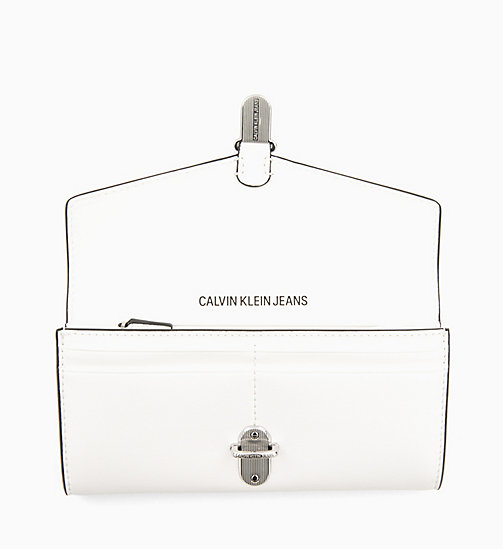 CALVIN KLEIN JEANS Long Envelope Wallet - BRIGHT WHITE - CALVIN KLEIN JEANS NEW IN - detail image 1