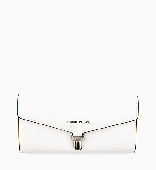 CALVIN KLEIN JEANS Long Envelope Wallet - BRIGHT WHITE - CALVIN KLEIN JEANS NEW IN - main image