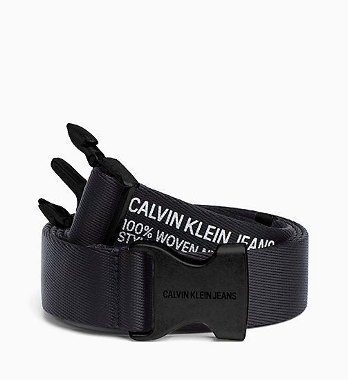 CALVIN KLEIN JEANS Webbing Plaque Belt - BLACK - CALVIN KLEIN JEANS NEW IN - main image