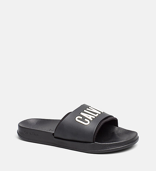 CALVINKLEIN Logo Sliders - BLACK - CALVIN KLEIN SLIDERS - main image