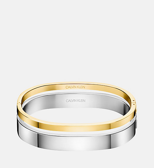 CALVINKLEIN Closed Bangle - Calvin Klein Hook - SILVER - CALVIN KLEIN JEWELLERY - main image