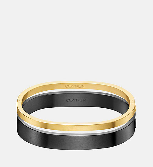 CALVINKLEIN Closed Bangle - Calvin Klein Hook - GOLD - CALVIN KLEIN BRACELETS - main image