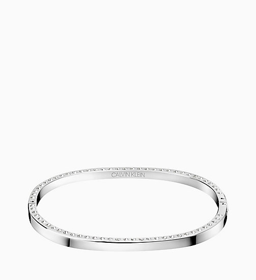 CALVIN KLEIN Closed Bangle - Calvin Klein Hook - SILVER - CALVIN KLEIN GIFTS - main image
