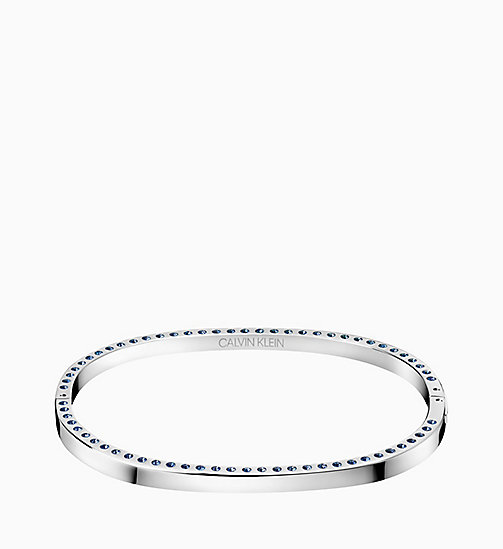 CALVIN KLEIN Closed Bangle - Calvin Klein Hook - SILVER - CALVIN KLEIN WOMEN - main image