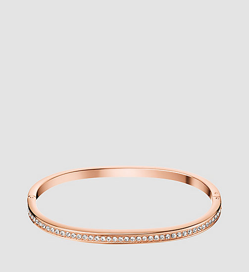 CALVINKLEIN Closed Bangle - Calvin Klein Hook - SST / PINK GOLD - CALVIN KLEIN WATCHES & JEWELLERY - main image