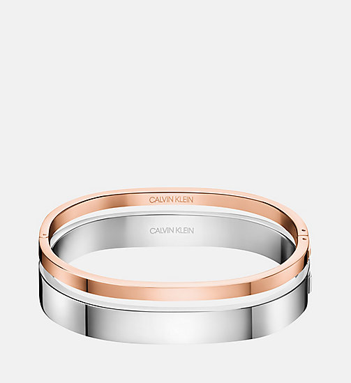 CALVINKLEIN Closed Bangle - Calvin Klein Hook - SILVER - CALVIN KLEIN BRACELETS - main image