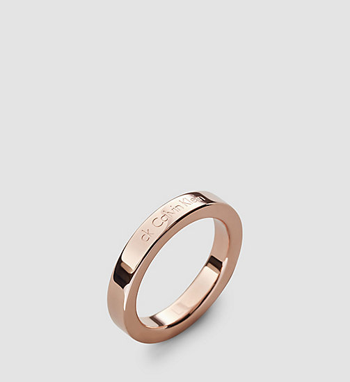 CALVINKLEIN Ring - Calvin Klein Hook - SST / PINK GOLD - CALVIN KLEIN WATCHES & JEWELLERY - main image