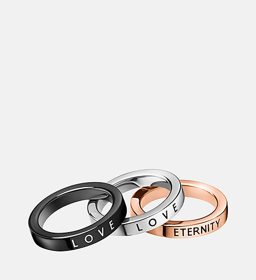 CALVIN KLEIN Ring - Calvin Klein Hook - SST/PINK/BLACK - CALVIN KLEIN WATCHES & JEWELLERY - main image