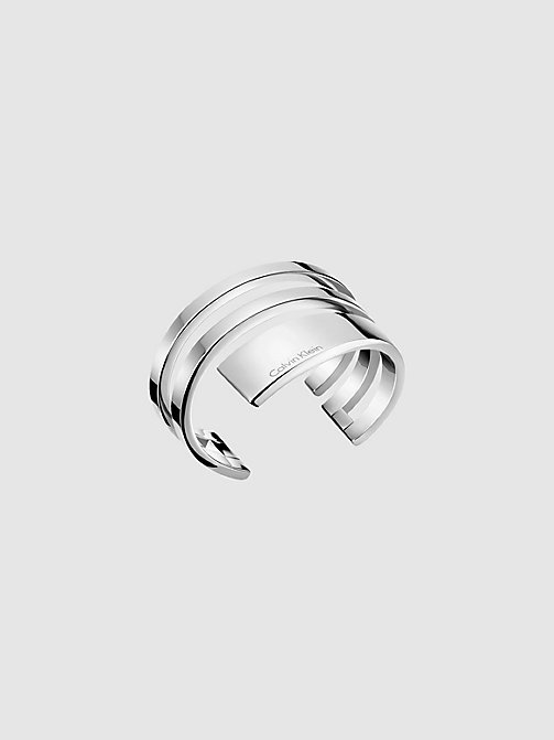 CALVINKLEIN Open Bangle - Calvin Klein Beyond - SILVER - CALVIN KLEIN WATCHES & JEWELLERY - main image