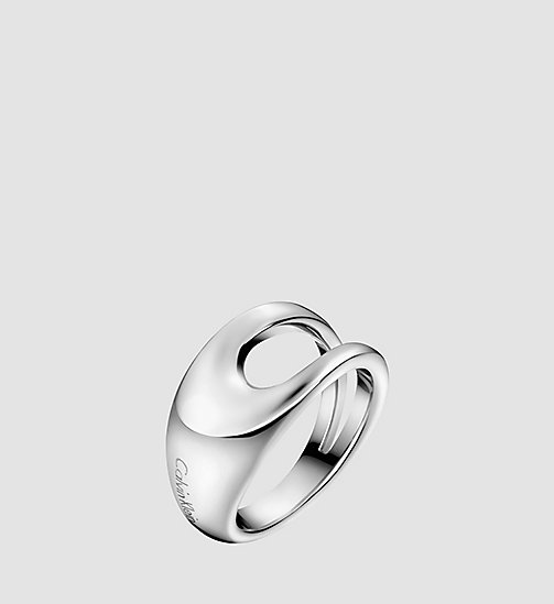 CALVINKLEIN Ring - Calvin Klein Shade - SILVER - CALVIN KLEIN WATCHES & JEWELLERY - main image