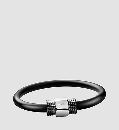 CALVINKLEIN Bracelet - Calvin Klein High - SST / BLACK RUBBER - CALVIN KLEIN WATCHES & JEWELLERY - main image