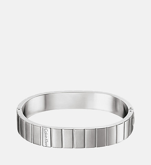 CALVIN KLEIN Closed Bangle - Calvin Klein Plate - SST - CALVIN KLEIN WATCHES & JEWELLERY - main image