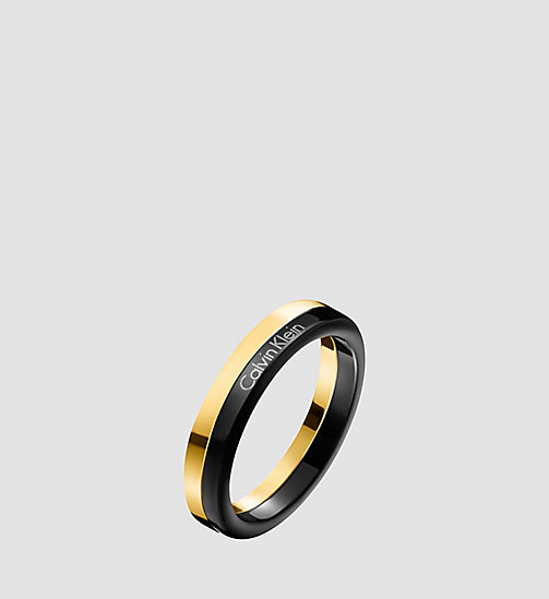 CALVINKLEIN Ring - Calvin Klein Gorgeous - BLACK / YELLOW - CALVIN KLEIN WATCHES & JEWELLERY - main image