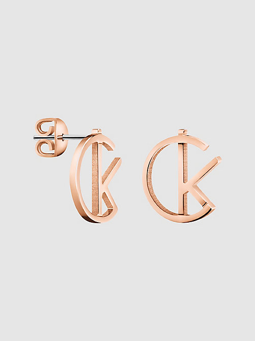 CALVIN KLEIN Earrings - Calvin Klein League - SST / PINK GOLD - CALVIN KLEIN WATCHES & JEWELLERY - main image