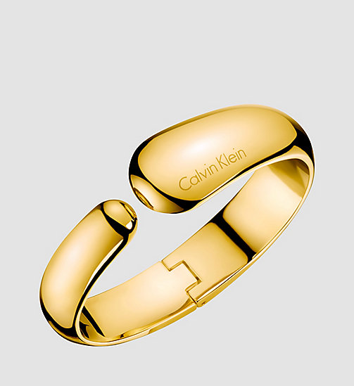 CALVINKLEIN Closed Bangle - Calvin Klein Informal - PVD YELLOW - CALVIN KLEIN WATCHES & JEWELLERY - main image