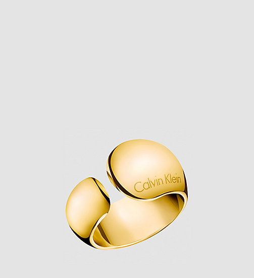 CALVINKLEIN Ring - Calvin Klein Informal - PVD YELLOW - CALVIN KLEIN WATCHES & JEWELLERY - main image