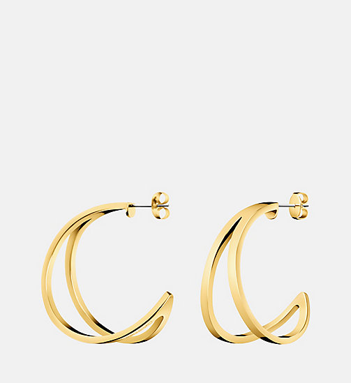 CALVIN KLEIN Earrings - Calvin Klein Outline - SST / YELLOW GOLD - CALVIN KLEIN GIFTS - main image