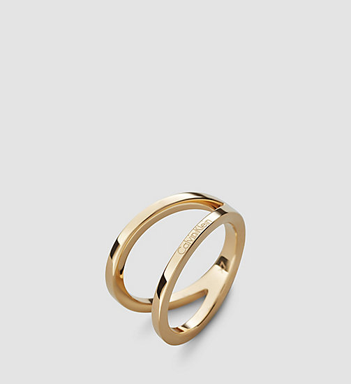 CALVINKLEIN Ring - Calvin Klein Outline - SST / YELLOW GOLD - CALVIN KLEIN WATCHES & JEWELLERY - main image