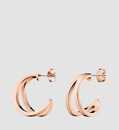 CALVINKLEIN Earrings - Calvin Klein Outline - SST / PINK GOLD - CALVIN KLEIN WATCHES & JEWELLERY - main image
