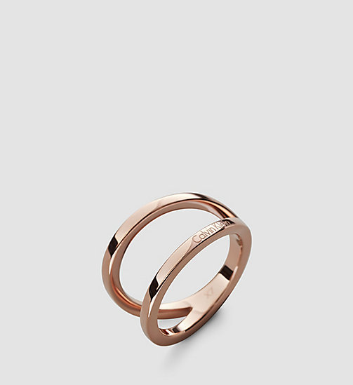CALVINKLEIN Ring - Calvin Klein Outline - SST / PINK GOLD - CALVIN KLEIN WATCHES & JEWELLERY - main image