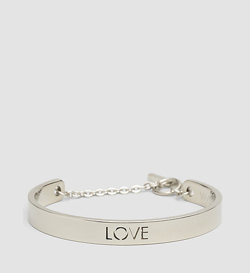 CALVINKLEIN Open Bangle - Calvin Klein Message - SST - CALVIN KLEIN WATCHES & JEWELLERY - main image