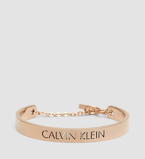 CALVINKLEIN Open Bangle - Calvin Klein Message - PVD PINK - CALVIN KLEIN WATCHES & JEWELLERY - main image