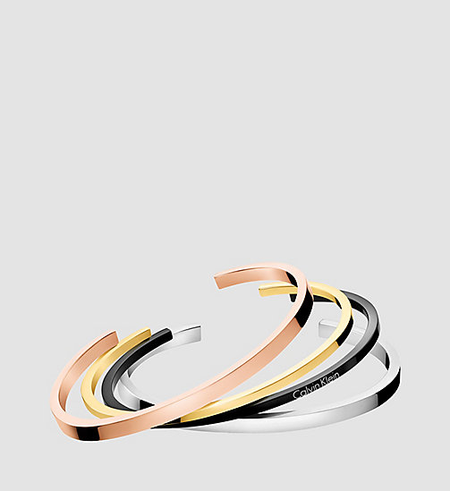 CALVINKLEIN Open Bangle - Calvin Klein Gorgeous - SST/ YELLOW / PINK /BLACK - CALVIN KLEIN WATCHES & JEWELLERY - main image
