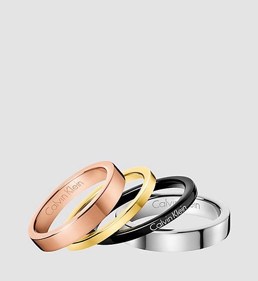 CALVIN KLEIN Ring - Calvin Klein Gorgeous - SST/ YELLOW / PINK /BLACK - CALVIN KLEIN WATCHES & JEWELLERY - main image