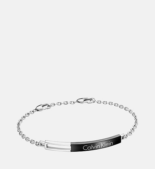 CALVINKLEIN Bracelet - Calvin Klein Hollow - SST / BLACK - CALVIN KLEIN WATCHES & JEWELLERY - main image