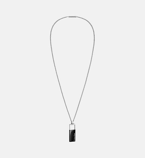 CALVINKLEIN Pendant - Calvin Klein Hollow - SST/BLACK - CALVIN KLEIN WATCHES & JEWELLERY - main image
